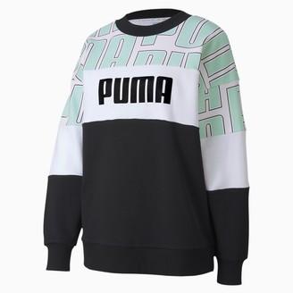 Puma Women's AOP Crewneck Sweatshirt