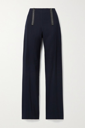 Jason Wu Zip-embellished Twill Straight-leg Pants - Navy