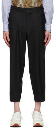 Comme des Garçons Homme Deux Black Shadow Stripe Trousers