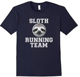 Men's Sloth Running Team Funny Sloth Funny Fitness T-Shirt Large