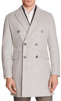 Hardy Amies Double-Breasted Slim Fit Coat