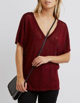 Charlotte Russe Lattice-Back Hacci Tee