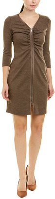 Lafayette 148 New York Petite Ruched Wool Sheath Dress