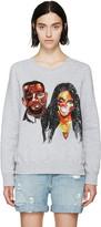 Ashish Grey Sequinned Kimye Sweatshirt