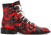 Givenchy rose print buckled boots