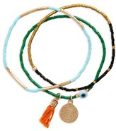 Topshop Women's Set Of 3 Beaded Bracelets