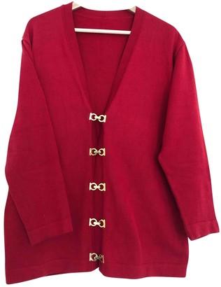 Salvatore Ferragamo Red Cotton Knitwear