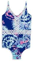 Lilly Pulitzer Toddler's, Little Girl's & Girl's Mals Printed One-Piece Swimsuit