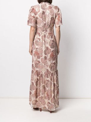 BA&SH metallic-effect Hide long dress