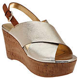 Marc Fisher Leather Cross-Band Back-strapWedges - Sesame