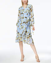 Bar III Ruffled Wrap Dress, Created for Macy's