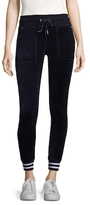 Betsey Johnson Striped Velour Cotton Skinny Pants