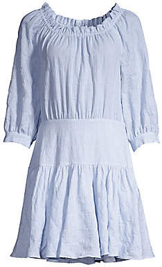 Rebecca Taylor Women's Striped Mini Dress