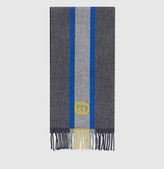 Gucci Web Jacquard Wool Scarf