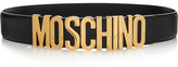 Moschino Embellished Leather Belt - Black