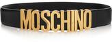 Moschino Embellished Leather Belt - Black