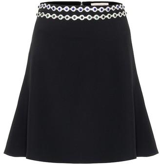 Christopher Kane Embellished silk-blend crepe miniskirt