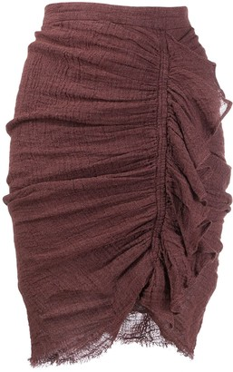Masscob Ruched Fitted Skirt