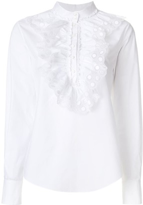 Chloé Ruched Crochet Blouse