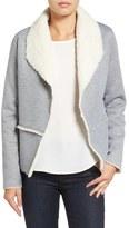 Caslon Drape Front Jacket (Regular & Petite)