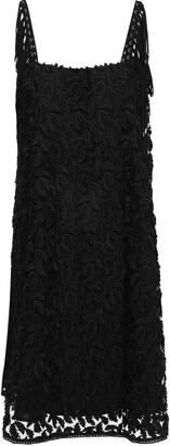 Just Cavalli Fringe-trimmed Fil Coupe Tulle Mini Dress