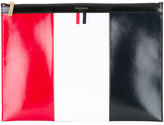 Thom Browne Medium Zippered Document Holder In Funmix Calf Leather