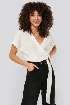 NA-KD Structured Overlap Blouse