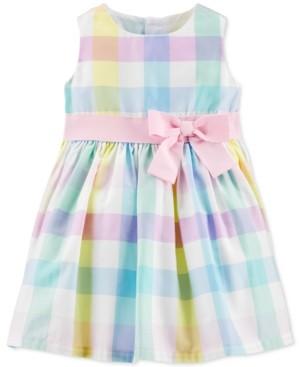 Carter's Baby Girls Multi-Color Gingham Sateen Dress