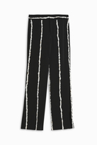 Derek Lam 10 Crosby Wide Leg Stripe Trousers