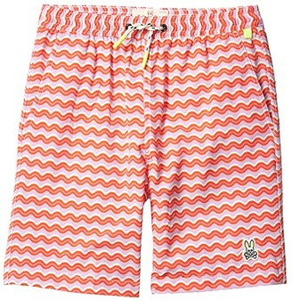 Psycho Bunny Kids Margate Swim Trunks (Toddler/Little Kids/Big Kids) (Mauve) Boy's Swimwear