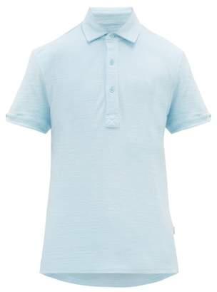Orlebar Brown Sebastian Cotton-terry Polo Shirt - Mens - Blue