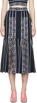 Peter Pilotto Navy Index Knit Skirt