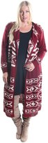 Hadari Women's Plus Size 2 Piece Set of A-Line Dress and Open Front Cardigan