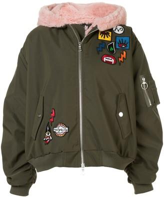 Haculla Aberrant patch bomber jacket