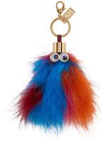 Sophie Hulme Multicolor Feather Leonard Keychain