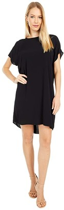Madewell Button Back Easy Dress (True Black) Women's Clothing