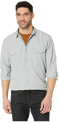 Filson Twin Lakes Sport Shirt (Mint/Gray) Men's Long Sleeve Button Up
