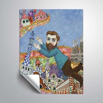 ArtWall Gaudi Barselona No Script, Removable Wall Art Mural by Holly Wojahn