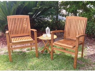 Chic Teak Belize Teak Wood Indoor/ Outdoor Dining Arm Chair