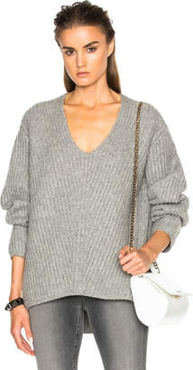 Acne Studios Deborah Sweater in Pale Grey Melange | FWRD