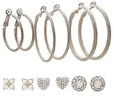 Charlotte Russe Hoop & Embellished Stud Earrings Set