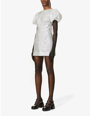 The Vampire's Wife Scoop Dog silk-blend mini dress
