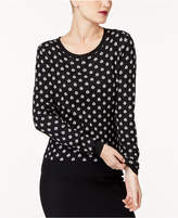 Trina Turk Cotton Dot-Print Sweater