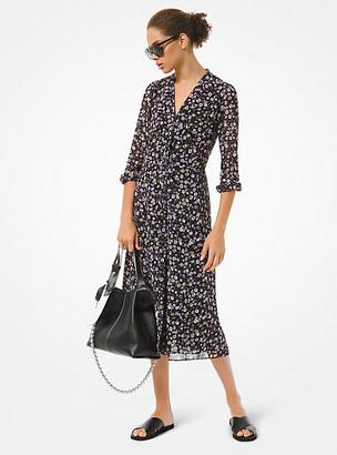 Michael Kors Floral Georgette Shirtdress