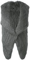Yves Salomon sleeveless open-front fur jacket