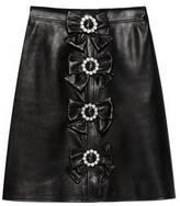 Gucci Plongè leather skirt