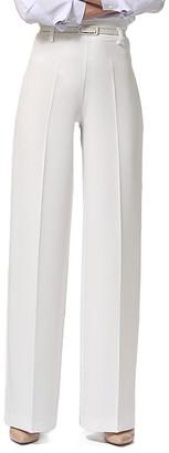 LADA LUCCI Women's Blouses Milky - White Wide-Leg Pants - Women & Plus