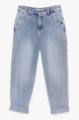 Nasty Gal Womens Wash the Plan High-Waisted Tapered Jeans - Blue - S
