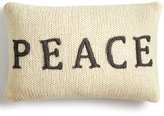 Holiday Lane Peace Knit Decorative Pillow, Created for Macy's