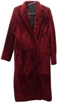 Joseph Burgundy Shearling Coats